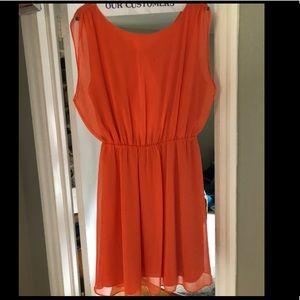 Alice + Olivia Orange Summer Dress Sz 8